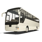 White tourist bus isolated stock illustration