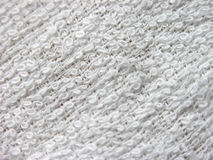 White towel. Texture closeup Stock Photography