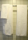 White Towel, Bathroom. White Towel in Bathroom royalty free stock images