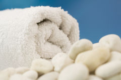 White towel on the beach Royalty Free Stock Photography
