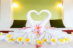 White towel decoration Royalty Free Stock Photography