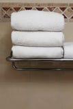 White towels Stock Photos