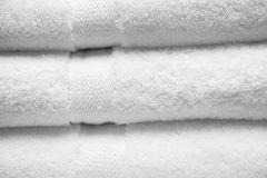 White towels. Stack of fluffy white towels Stock Image