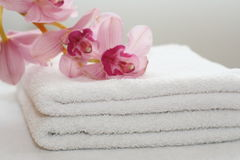White Towels Stock Photo