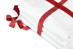 White towels close up Royalty Free Stock Photos