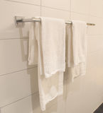 White towels hanging Royalty Free Stock Photography