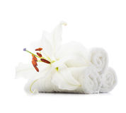 White towels Stock Images