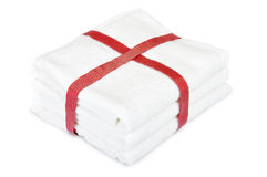 White towels stack Royalty Free Stock Image