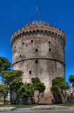 White Tower ancient fortification. White Tower in Thessaloniki, Greece Royalty Free Stock Images