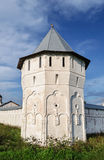 White tower of ancient Russian monastery Stock Photography
