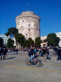 White tower beautiful place Royalty Free Stock Photo