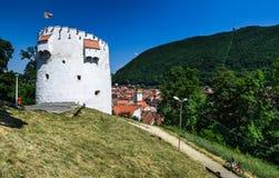 White Tower of Brasov fortifications, Transylvania, Romania royalty free stock image