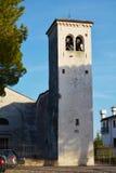White tower, Castello, Oratorio, in Conegliano Veneto, Italy. Oratorio della Beata Vergine, from 1544, near the medieval Castello, in Conegliano, in Veneto Royalty Free Stock Images