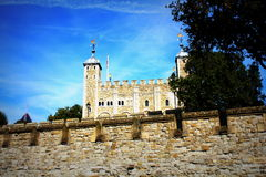 The White Tower of the historic Tower of London, England Stock Photography