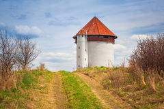 White tower of hydroelectricity in Bielkowo Royalty Free Stock Images