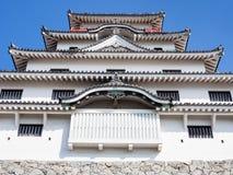 White tower of Karatsu castle. Traditional Japanese samurai castle in Karatsu, Saga prefecture, Kyushu island stock photography