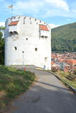 White tower, medieval fortifications in Brasov, Transilvania Royalty Free Stock Photo