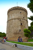 White Tower peaceful scene Thessaloniki Stock Photos