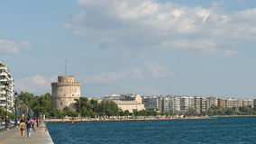White Tower And Skyline Of Thessalonika City Stock Image