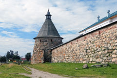 White Tower of Solovetsky Monastery, Russia Stock Image