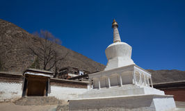 White tower temple gansu china Royalty Free Stock Photography