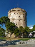 White Tower of Thesaloniki. View from the window of White Tower of Thesaloniki Stock Image