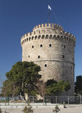 White tower Thessaloniki. White tower the symbol of Thessaloniki city in Greece Stock Images