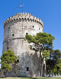 White Tower, Thessaloniki. The White Tower of Thessaloniki is a monument and museum on the waterfront of the city of Thessaloniki, capital of the region of stock photos
