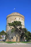 White tower in Thessaloniki stock photography