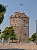 THE WHITE TOWER AT THESSALONIKI CITY Stock Photo