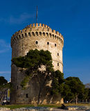 The white tower at Thessaloniki city Stock Image