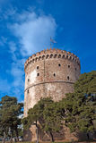 The white tower at Thessaloniki city Royalty Free Stock Images