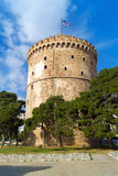 The white tower at Thessaloniki city, Greece Stock Photography