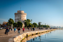 The white tower, Thessaloniki city, Greece Stock Images