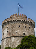 White tower at Thessaloniki in Greece royalty free stock photos