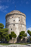 White Tower, Thessaloniki, Greece. The White Tower at Thessaloniki, Greece stock image