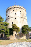 The White Tower, Thessaloniki, Greece. View of the White Tower - the symbol of Thessaloniki, Northern Greece Royalty Free Stock Photos