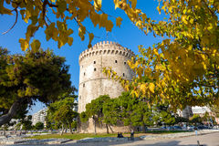 The white tower in Thessaloniki - Greece Royalty Free Stock Images