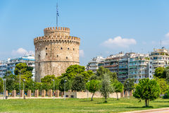The White tower of Thessaloniki. Greece royalty free stock photos