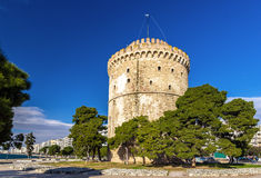 White Tower of Thessaloniki. In Greece royalty free stock images