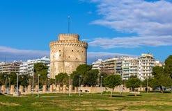 White Tower of Thessaloniki Stock Image