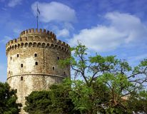 The White tower of Thessaloniki, Greece Stock Photography