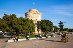 White Tower in Thessaloniki, Greece Royalty Free Stock Photography