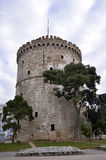 White Tower of Thessaloniki, Greece Stock Images