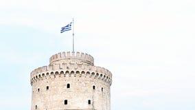 White tower thessaloniki landmark stock video footage