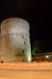 White Tower  in Thessaloniki night Stock Photos