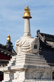 White tower in a Tibetan lamasery Royalty Free Stock Images