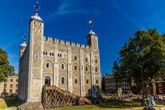 White tower of TOwer of London. England Stock Images