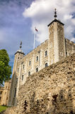 The White Tower of the Tower of London. The iconic White Tower of the Tower of London. Built by William the Conqueror in the 11th century, and use as a Palace Stock Images