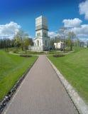 The White Tower in Tsarskoye Selo  in Aleksandrovsky park, Pushkin, Russia Stock Photo